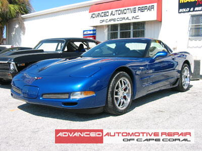Client Gallery Royal Blue Corvette