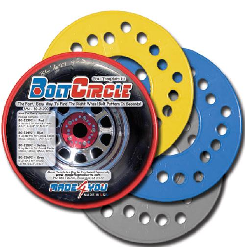 Wheel Bolt Circle Template Master Set Classy Wheel Bolt Pattern Tool